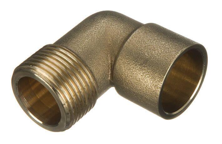 Endfeed Male Iron Adaptor Bent - 15mm x 1/2