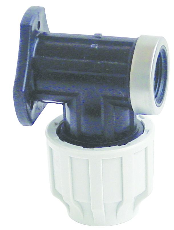MDPE Wall Plate Elbow - 20mm x 1/2