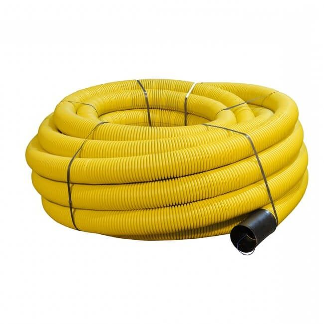 Flexi Duct Unperforated - 110mm (O.D.) x 50mtr Yellow Coil