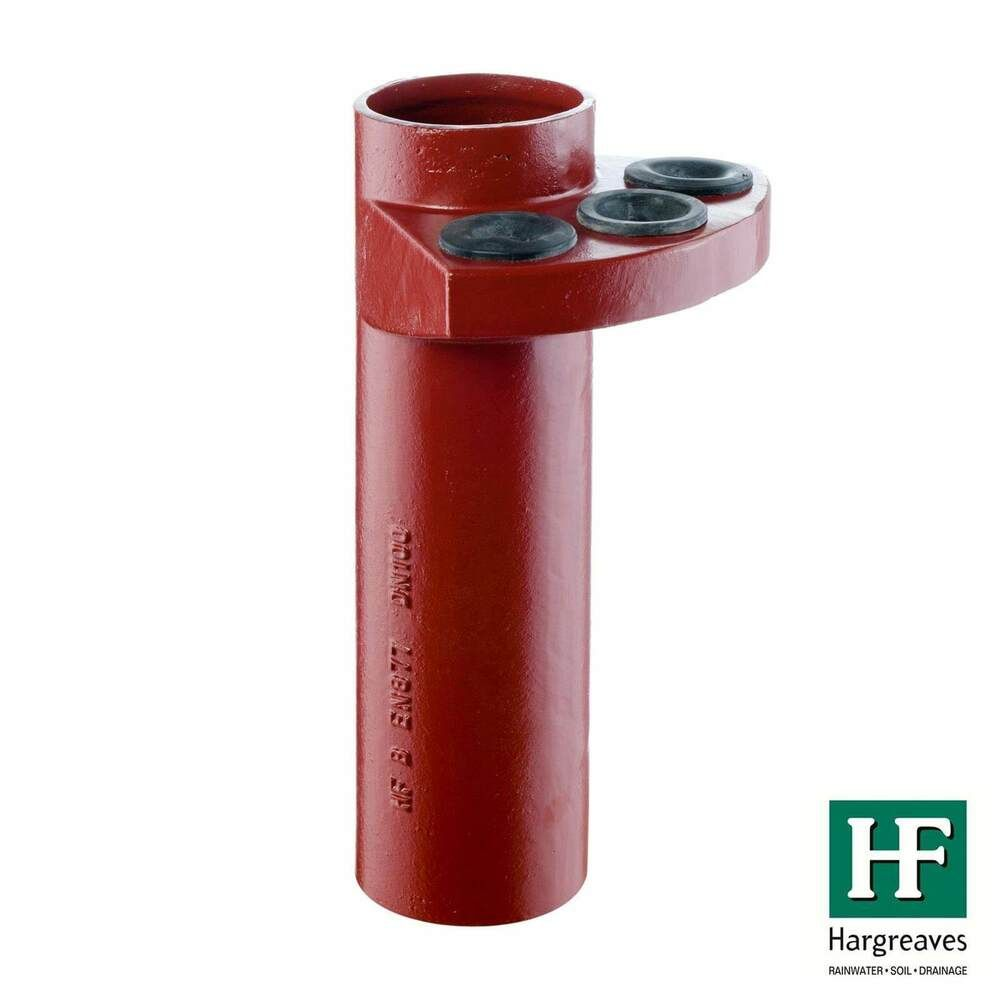 Cast Iron Halifax Soil Manifold Connector With 3 Plugs - 100mm