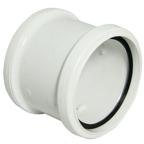 Ring Seal Soil Coupling Double Socket - 110mm White
