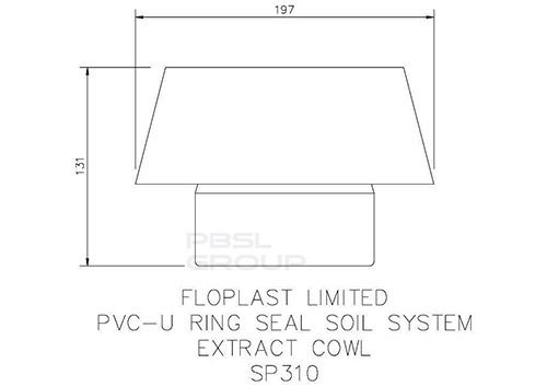 Ring Seal Soil Vent Cowl - 110mm Grey