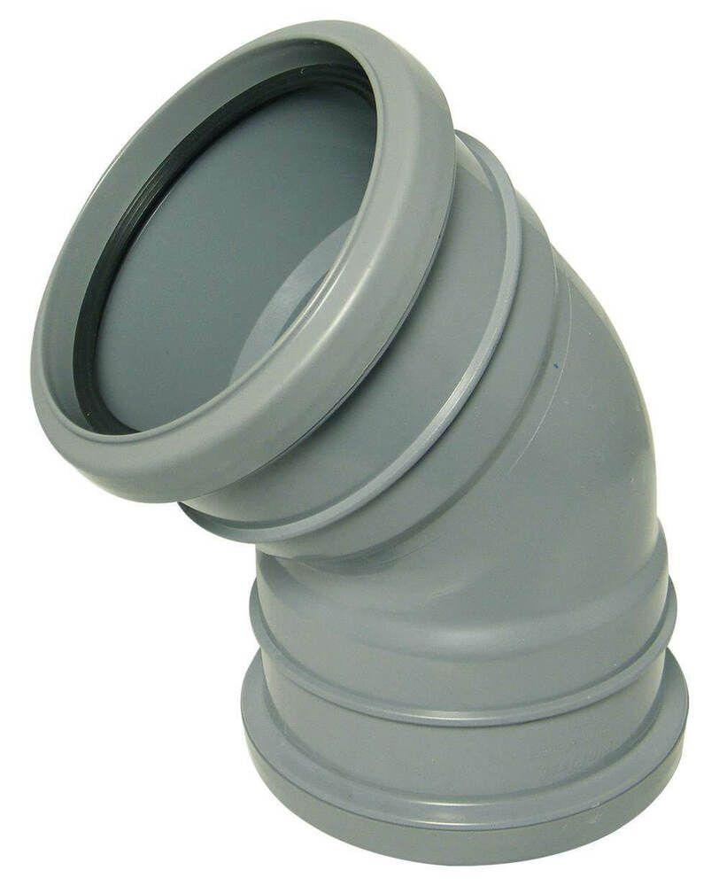 Ring Seal Soil Bend Double Socket - 135 Degree x 110mm Grey