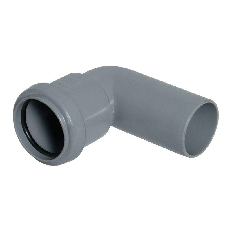 Push Fit Waste Bend Swivel - 90 Degree x 40mm Grey
