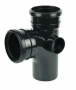 Ring Seal Soil Branch - 92.5 Degree x 110mm Black