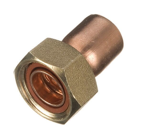 Endfeed Tap Connector Straight - 22mm x 3/4