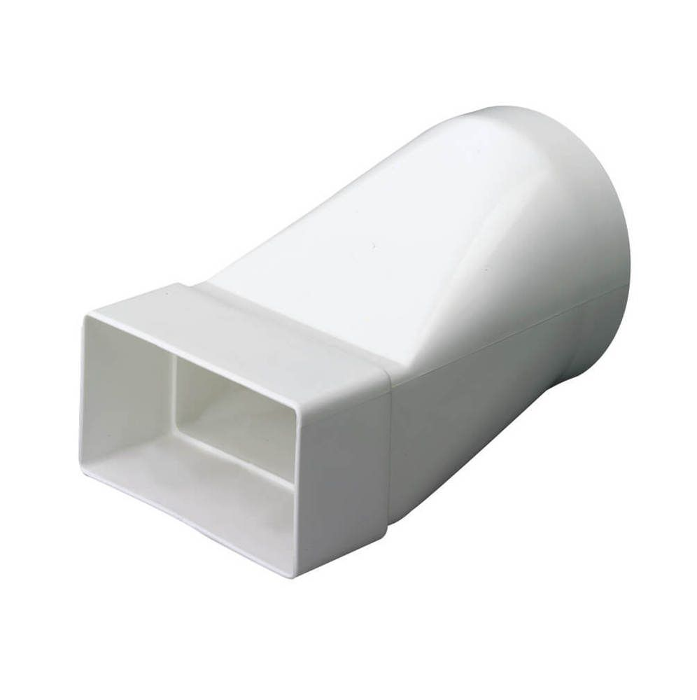 Supertube Rectangular Ventilation Duct Round to Rectangular Adaptor - 204mm x 60mm
