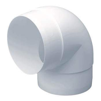 Easipipe Round Ventilation Duct Elbow - 90 Degree x 125mm