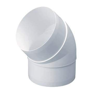 Easipipe Round Ventilation Duct Elbow - 45 Degree x 125mm