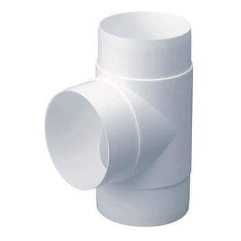 Easipipe Round Ventilation Duct Tee - 125mm