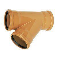 Drainage Junction Triple Socket - 45 Degree x 160mm