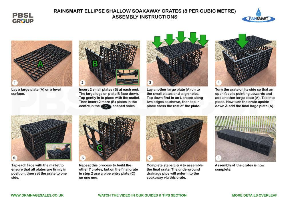Rainsmart Soakaway Set Shallow for Heavier Soils Flat-Packed 1 Cubic Metre