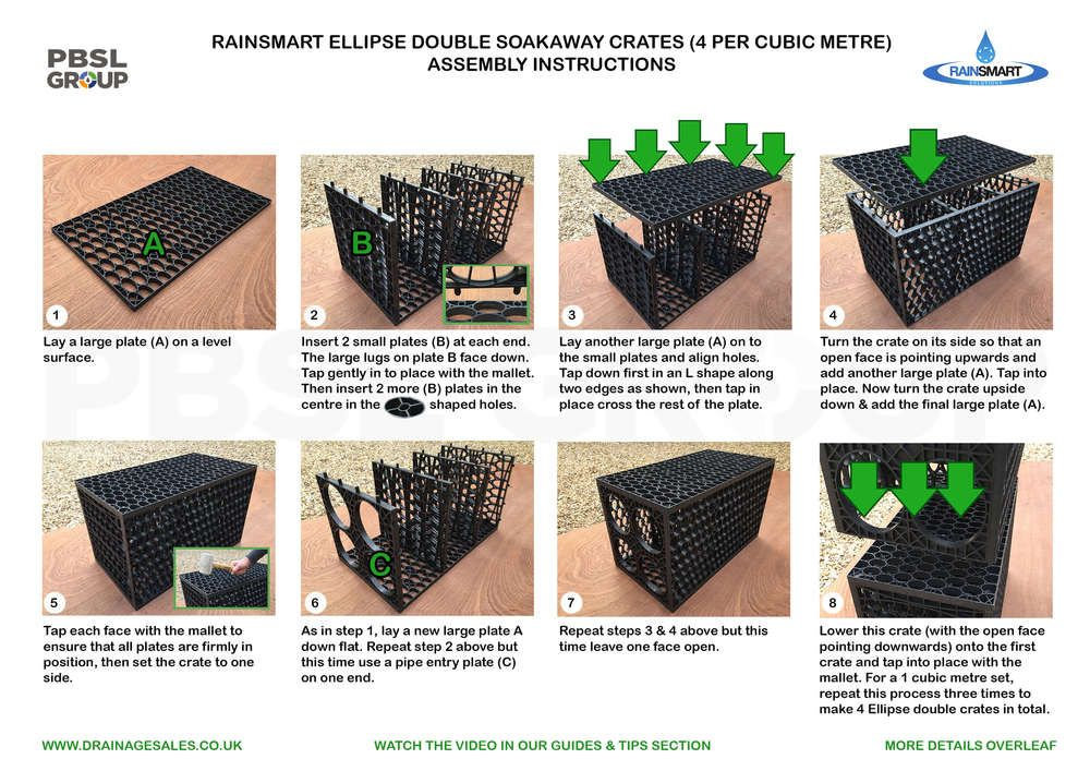 Rainsmart Ellipse Soakaway Set Flat-Packed 1 Cubic Metre