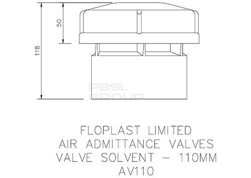 Air Admittance Valve Internal - 110mm White