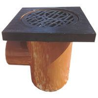 Drainage Bottle Gully Square Grid - 110mm