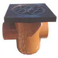 Drainage Bottle Gully Back Inlet Square Grid - 110mm