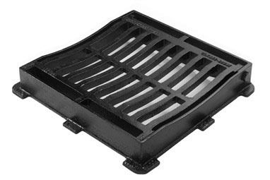 Ductile Iron Gully Grating Hinged - 12.5 Tonne x 302mm x 302mm