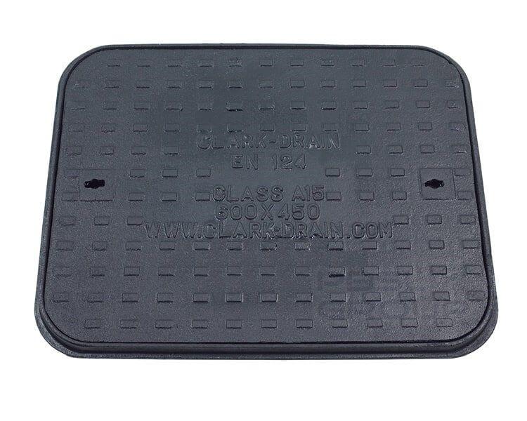 Cast Iron Manhole Cover - 1.5 Tonne x 600mm x 450mm