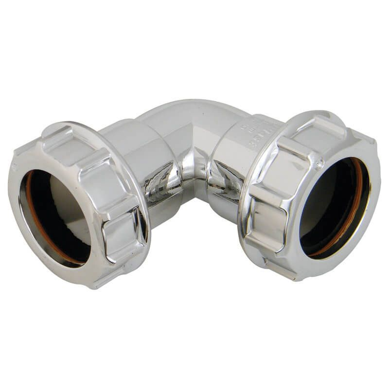 Chrome Plated Waste Bend - 90 Degree x 40mm - OUT OF STOCK