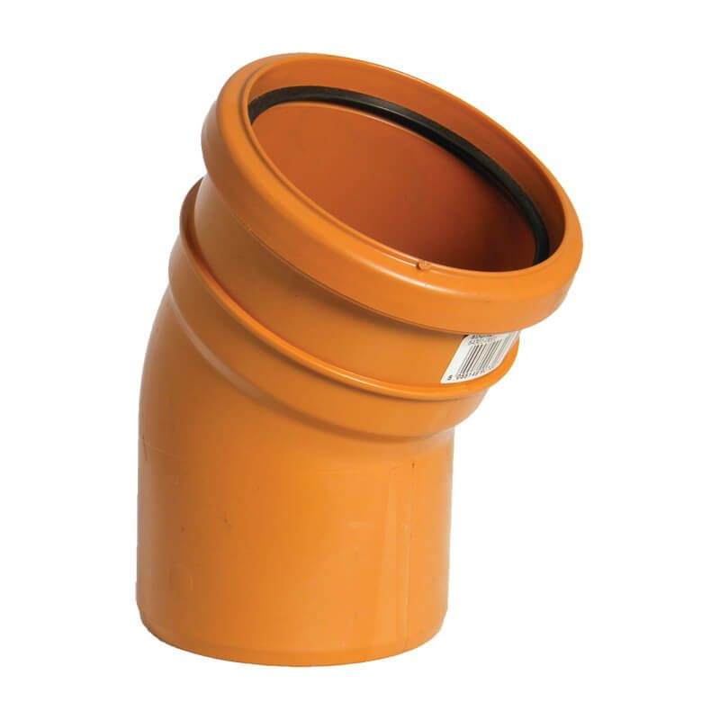 FloPlast Drainage Bend Single Socket - 30 Degree x 110mm