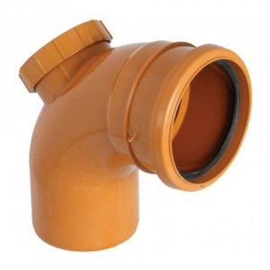 Drainage Access Bend - 87.5 Degree x 110mm