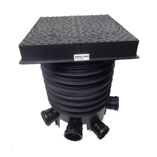 Inspection Chamber Complete Set With Square Cover - 450mm Diameter