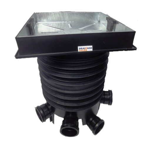 Inspection Chamber Complete Set With 46mm Deep Block Paviour Cover - 450mm Diameter