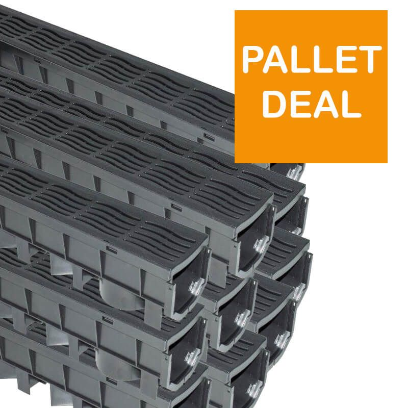 Channel Drainage Grate PVC - 1mtr - Pallet - OUT OF STOCK