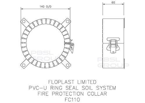Fire Protection Collar - 110mm