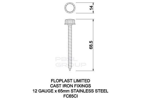 Ring Seal Soil Fixings - 65mm Cast Iron Effect - Pack of 10