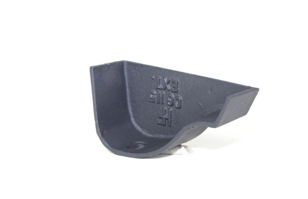 Cast Iron Ogee Gutter Right Hand Stopend - 125mm Primed