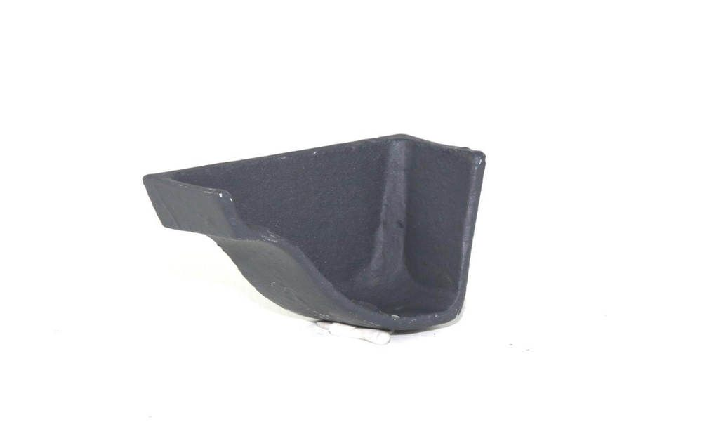 Cast Iron Ogee Gutter Left Hand Stopend - 125mm Primed