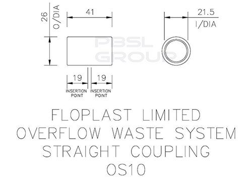 Overflow Coupling - 21.5mm White