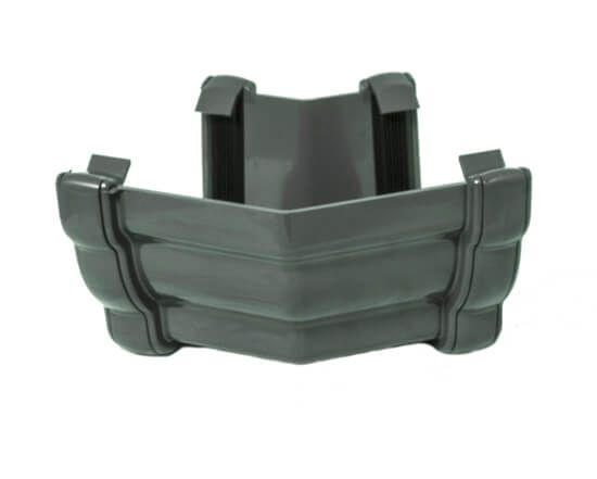 Ogee Gutter External Angle - 135 Degree x 80mm Anthracite Grey