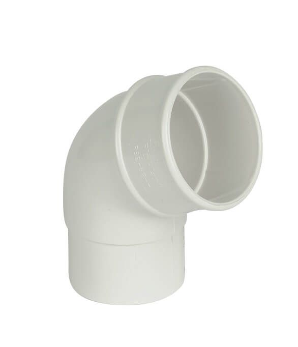 Round Downpipe Offset Bend - 112.5 Degree x 68mm White