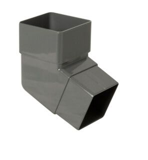Square Downpipe Offset Bend - 112 Degree Anthracite Grey