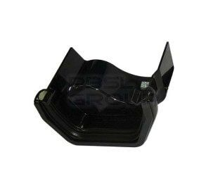 PVC Square to Cast Iron Ogee Left Hand Guter Adaptor - Black