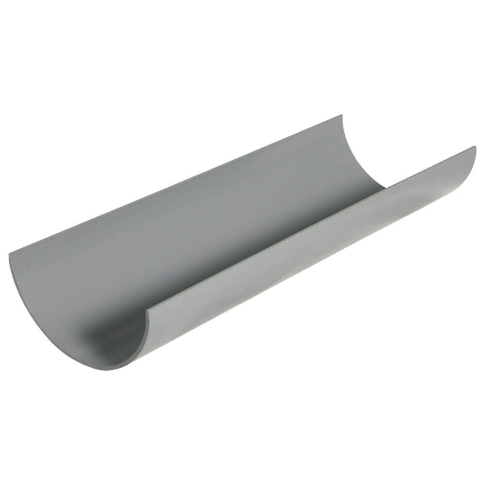 Half Round Gutter - 112mm x 4mtr Grey - OUT OF STOCK