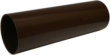 Mini Gutter Downpipe - 50mm x 2mtr Brown