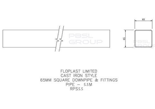 Square Downpipe - 65mm x 5.5mtr Brown - OUT OF STOCK