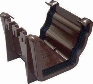Ogee Gutter Union Bracket - 110mm x 80mm Brown