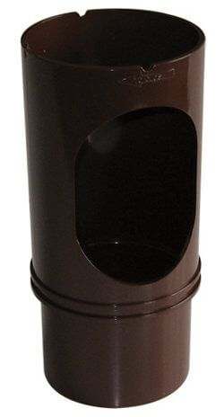 Round Downpipe Access Pipe - 68mm Brown