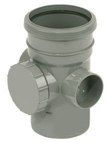 Ring Seal Soil Access Pipe Single Socket - 110mm Grey