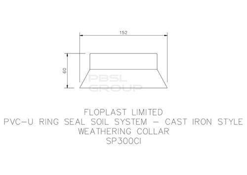 Ring Seal Soil Weathering Collar - 110mm Cast Iron Effect