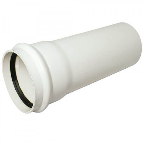 Ring Seal Soil Pipe Single Socket - 110mm x 4mtr White