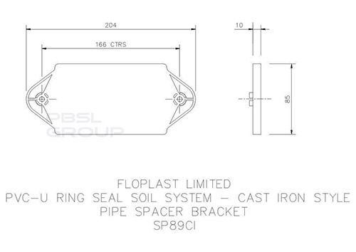 Ring Seal Soil Pipe Spacer - 110mm Cast Iron Effect