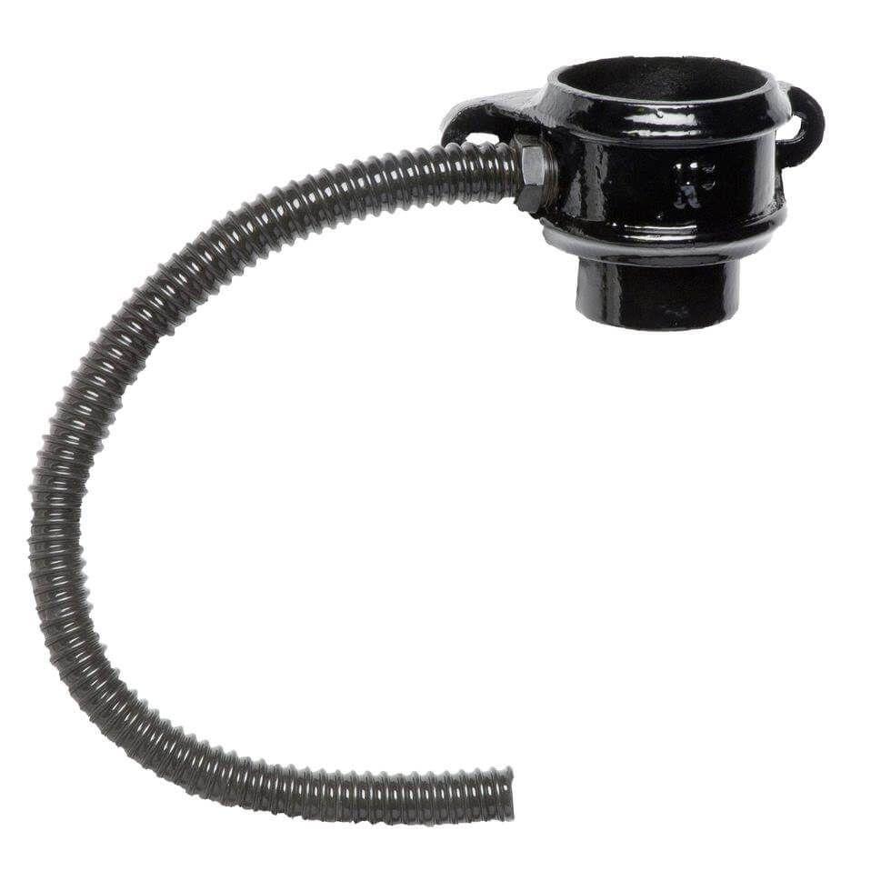 Cast Iron Round Downpipe Diverter Kit Left Hand - 65mm Black