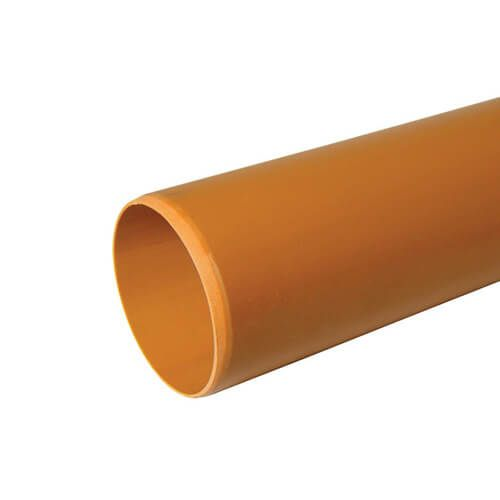 Drainage Pipe Plain Ended - 110mm x 3mtr - Pack of 2