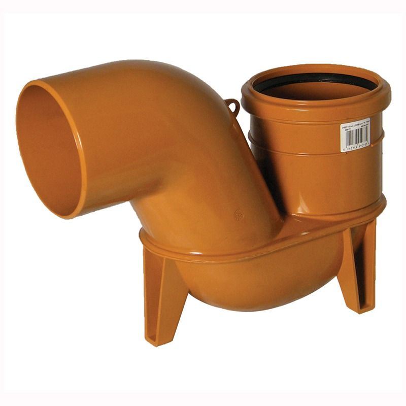 Drainage Low Back P Trap Gully Outlet - 90 Degree x 110mm