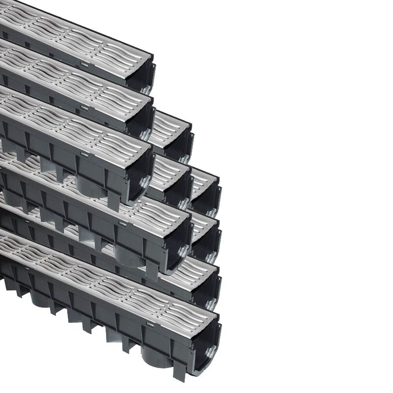 Channel Drainage Grate Galvanised Steel - 1mtr - Pack of 10